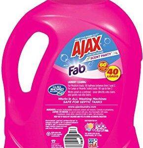 Ajax Laundry Scent Party Liquid Laundry Detergent, 60 Fluid Ounce