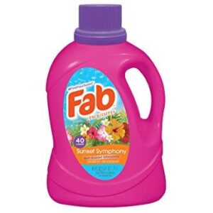 Fab Sunset Symphony Liquid Laundry Detergent, 60 Fluid Ounce