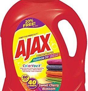 Ajax Laundry Rainbow 3D Color Vault Liquid Laundry Detergent, 60 Fluid Ounce