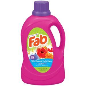 Fab Wild Flower Medley Liquid Laundry Detergent (134 oz)
