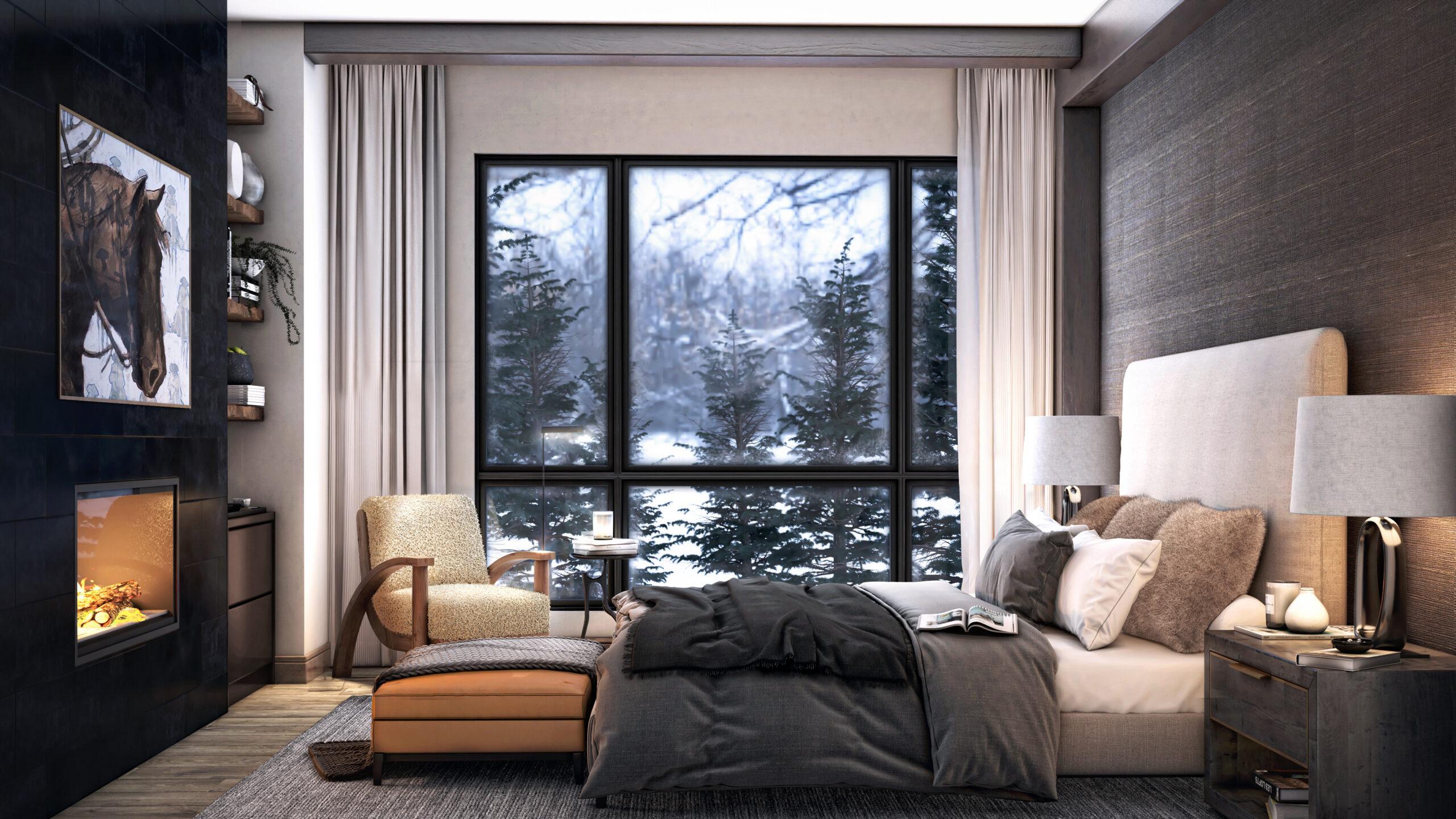 Rendering of master bedroom