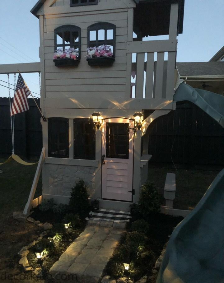 outdoor playhouse lights