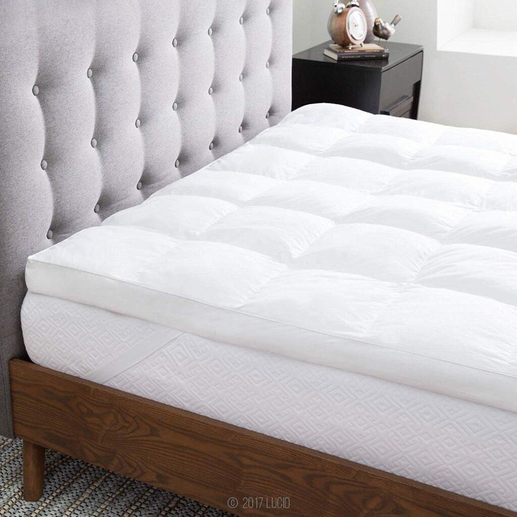 Three inch thick mattress topper. Favorite Amazon Find.