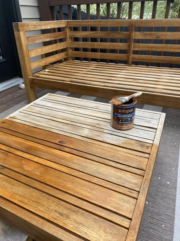 Weathered patio furniture