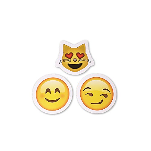 15 Unique Emoji Stickers   Each Over 2″   Variety of Emojis   Set #2: Heart Eyes, Faces, Poo & More (Set 2)