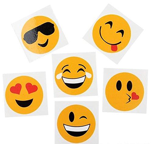 RINCO Emoji Temporary Tattoos (144 Piece), 2″ (Discontinued by manufacturer)