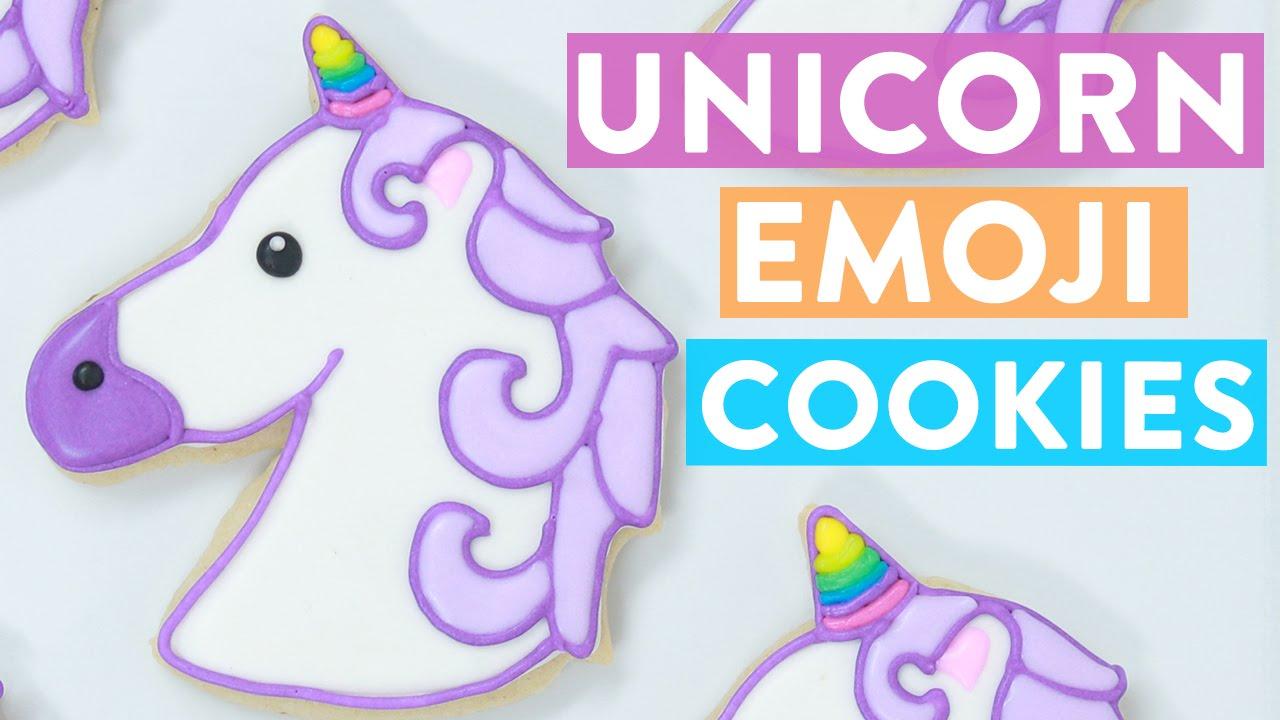 Unicorn Emoji Cookies. Unicorn emoji