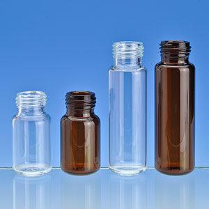 20 ml. Clear Head Space Screw Top Vial, Radius Bottom, 100/pack