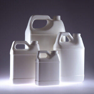 128 oz. HDPE White F-Style Jug, Jug only