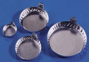 Aluminum Dish with Tab, 70 mm