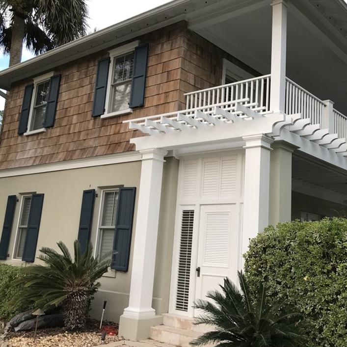 New trim paint makes this home shine!