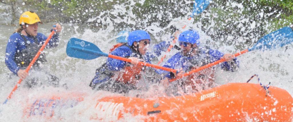 lost paddle rafting