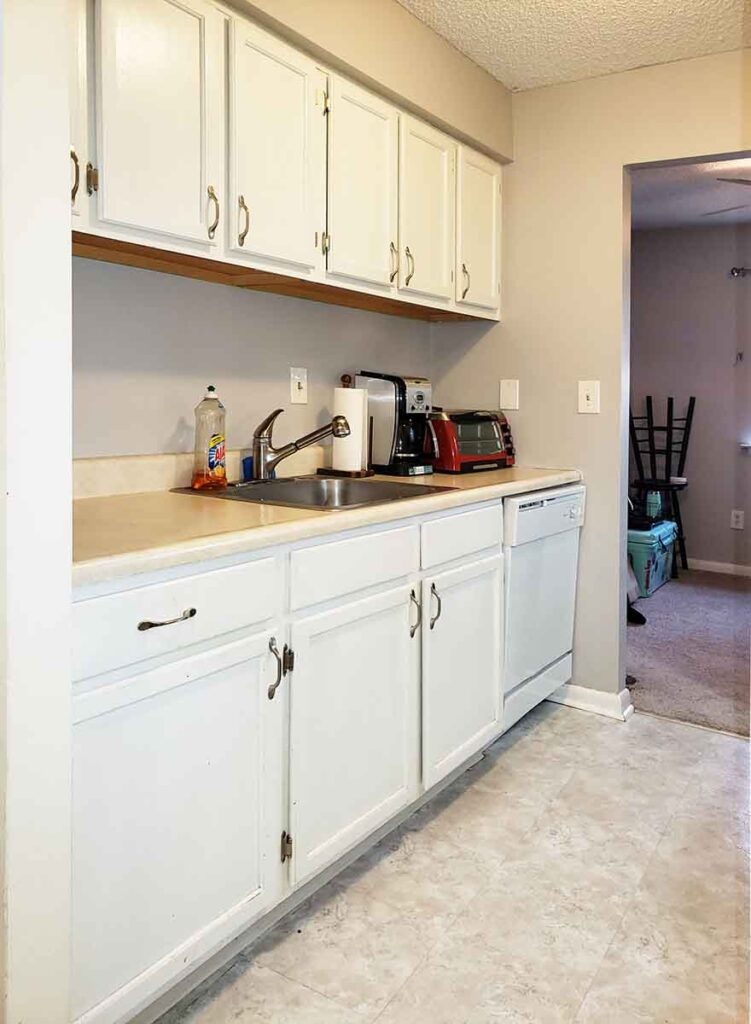 Kitchen From Dining Area with Dishwasher