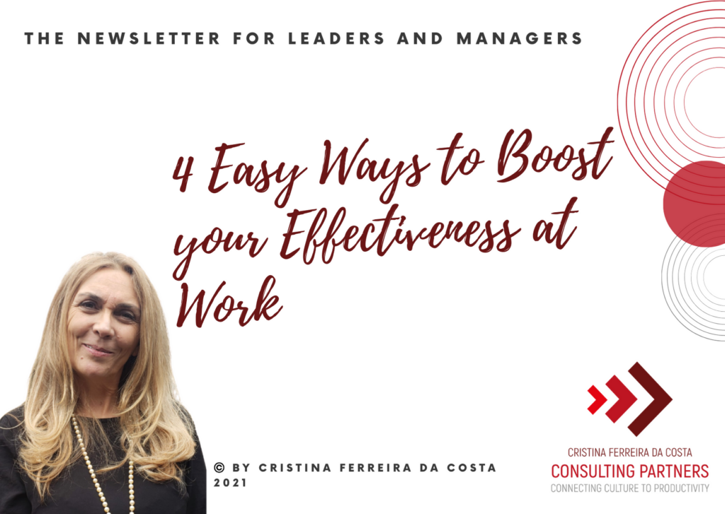 4 Easy Ways to Boost Your Effectiveness at Work