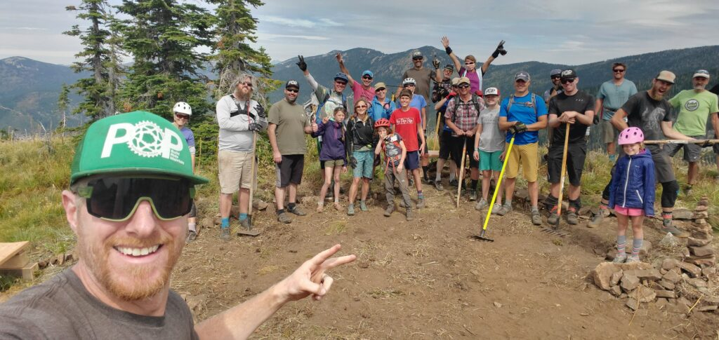 A great volunteer crew on August 29th at POP Point