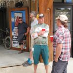 Alpine Shop hosts a barbecue in the village for our volunteers