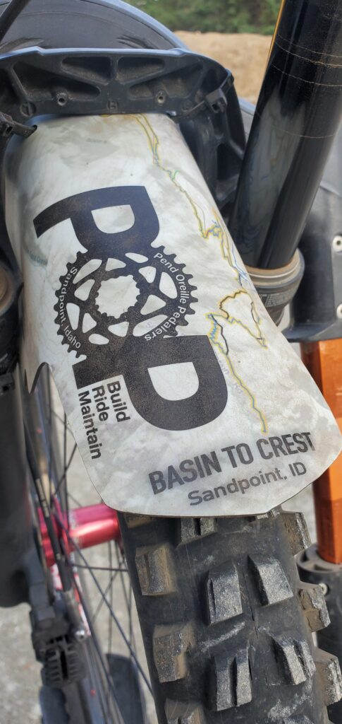 Basin to Crest custom mud guard for riders who completed the challenge