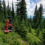 Breaking trail in rouch terrain
