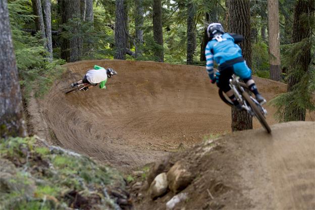 Flow trail - bermed turn