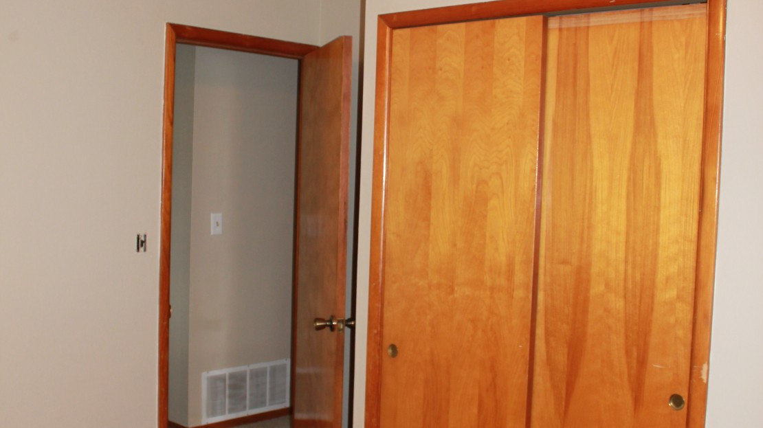 Large Closet In Third Bedroom of Rental Home in Independence Iowa