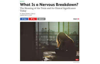 What Is a Nervous Breakdown?