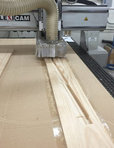 CNC router working on wood