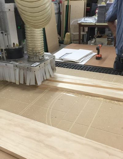 cnc routing in progress