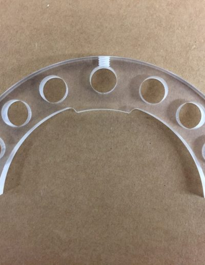 clear acrylic cnc machining part