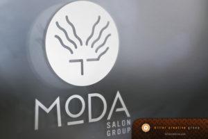 Moda Salon logo branding Raleigh NC
