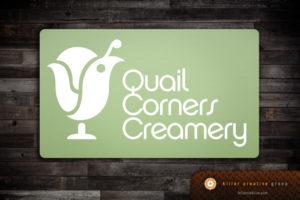 Quail Corners Creamery small business logo design Raleigh NC