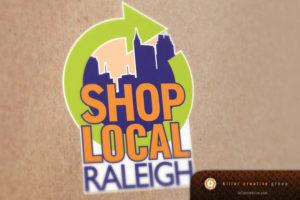 Shop Local Raleigh logo design NC