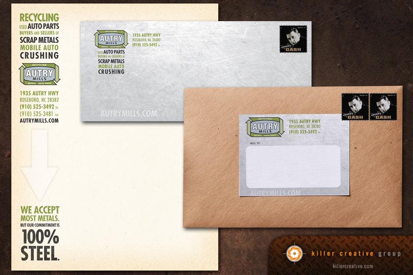 industrial stationery letterhead label design raleigh north carolina