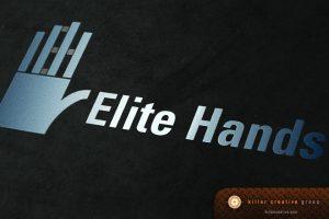 Elite Hands healthcare physician logo design raleigh nc