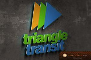 Triangle Transit rebranding logo design raleigh nc