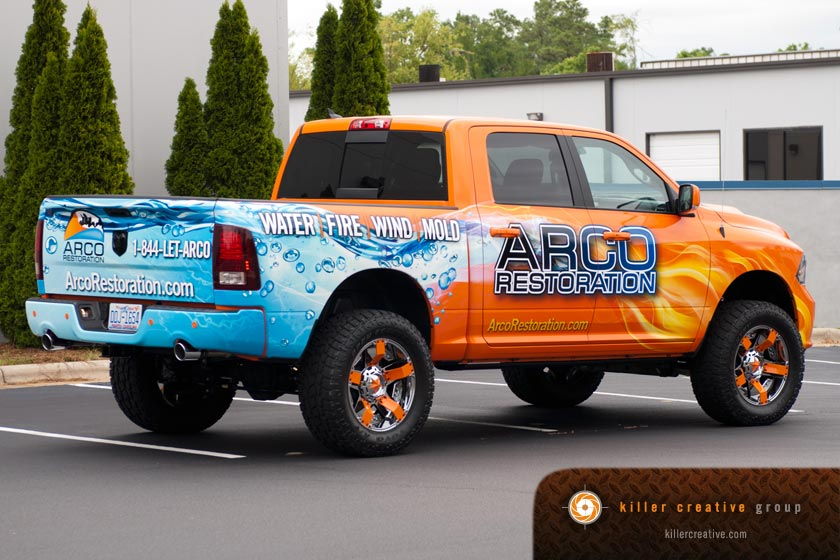 arco pickup truck graphics and wrap raleigh nc