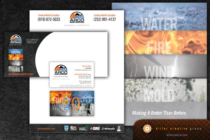 Arco stationery business card design raleigh nc