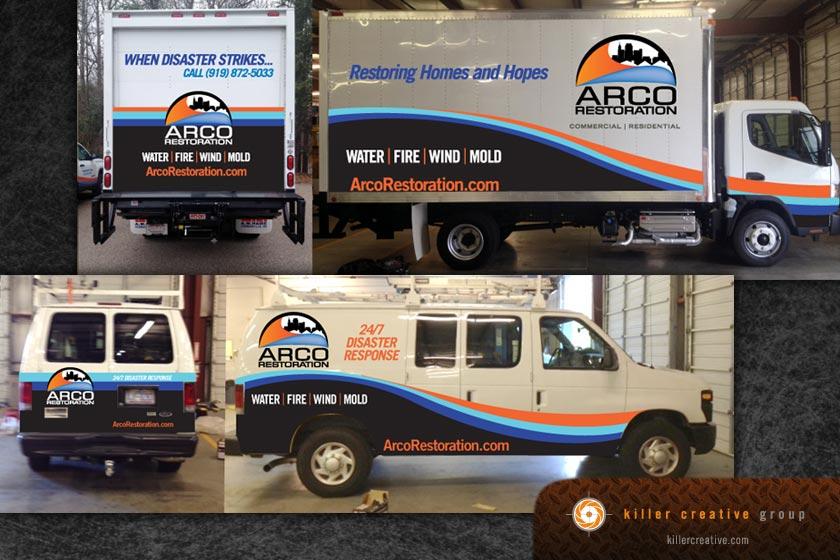 arco truck fleet graphics raleigh nc