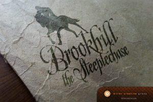 Brookhill Steeplechase logo brand design raleigh clayton nc