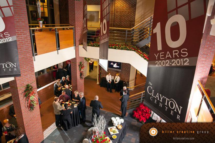 clayton center interior vinyl banner design raleigh nc