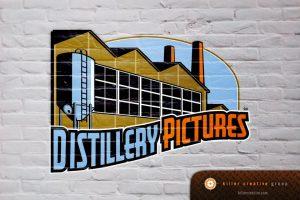 Distillery Pictures logo design raleigh nc