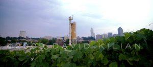 raleigh nc skyline stock photo