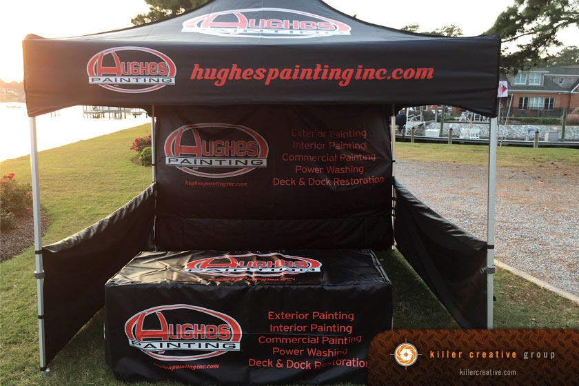 branded tent and trade show graphics