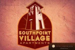 Southpoint Village Apartments real estate logo design raleigh nc