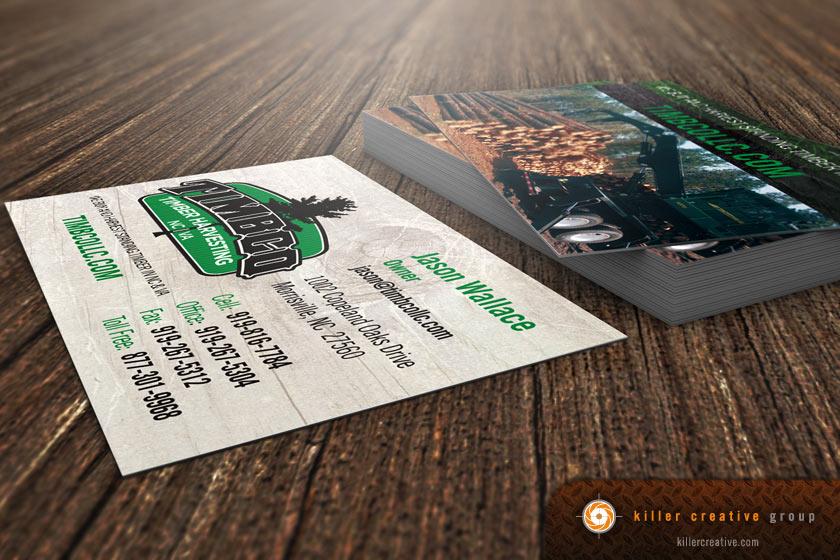 Timbco business cards design printing raleigh nc