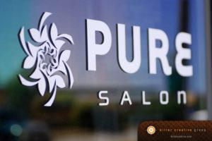 Pure Salon logo design Raleigh Clayton NC