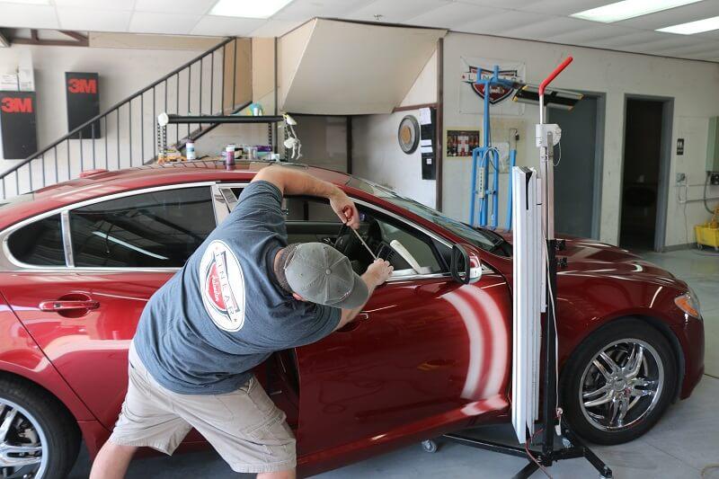 Hail Damage Paintless Dent Repair Service in Plano Texas
