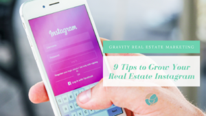 blog cover tips to grow your real estate Instagram