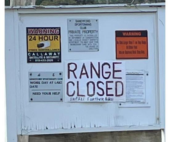 range closed sign