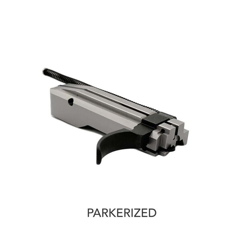 jwh custom ruger 1022 bolt with parkerized extended charging handle