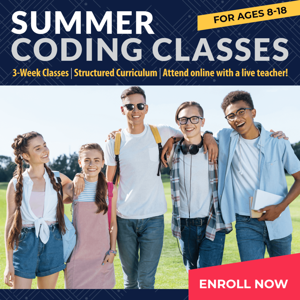 Summer Free & Fee Camp Coding Classes Are Enrolling Now